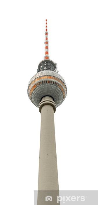 Fotomural Estándar Torre de la TV aislado - Ciudades europeas