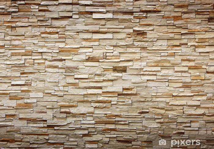 Fotomural Estándar Textura de la pared de piedra para el fondo - iStaging