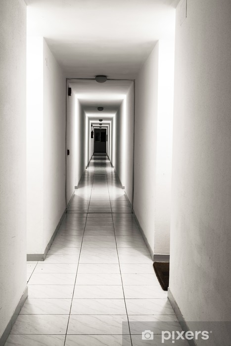 Fotomural Pasillo de un edificio de apartamentos • Pixers® - Vivimos ...