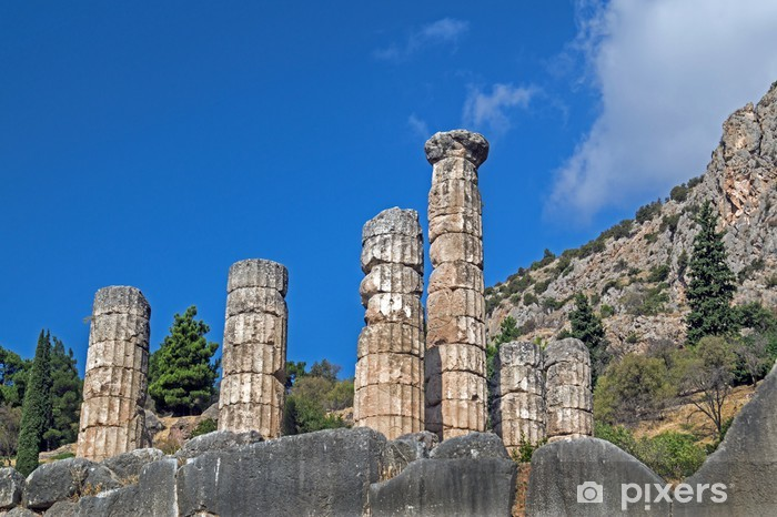 Temple of Apollo at Delphi oracle archaeological site in Greece Vinyl Wall Mural - Europe