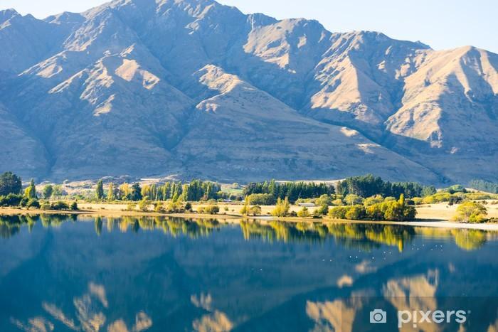 Naklejka Pixerstick Malowniczy krajobraz - Góry