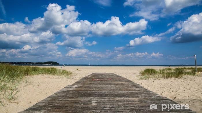 Sticker Pixerstick Holzsteg zum Meer - Vacances