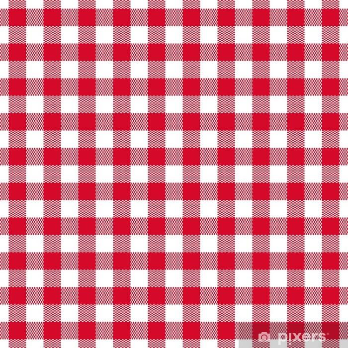 Checkered seamless pattern. Vector illustration Pixerstick Sticker - Styles