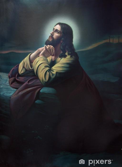 Naklejka Pixerstick Modlitwa Jezusa w ogrodzie Getsemani. - Tematy