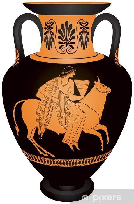 "Amphora ""Europa and the bull"" Pixerstick Sticker - Europe"