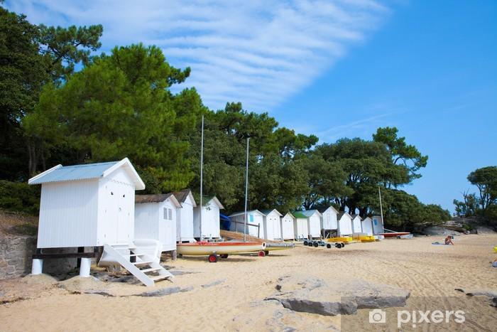 Naklejka Pixerstick Francja> Vendée> Noirmoutier> Plaża - Wakacje