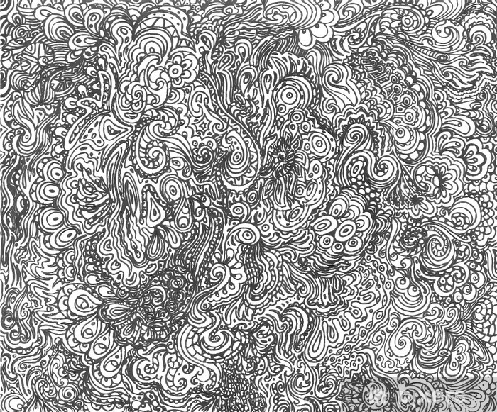 Naklejka Pixerstick Doodle tła - Inne uczucia