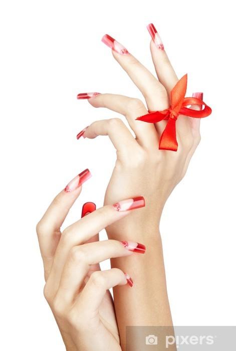 Naklejka Pixerstick Manicure paznokcie akrylowe - Uroda i pielęgnacja ciała