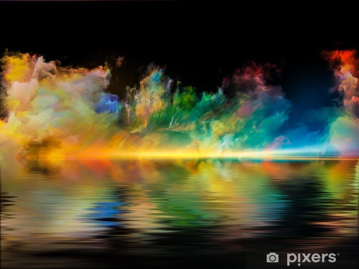 Vinyl Fotobehang Virtual Kleuren - Wonderen der Natuur