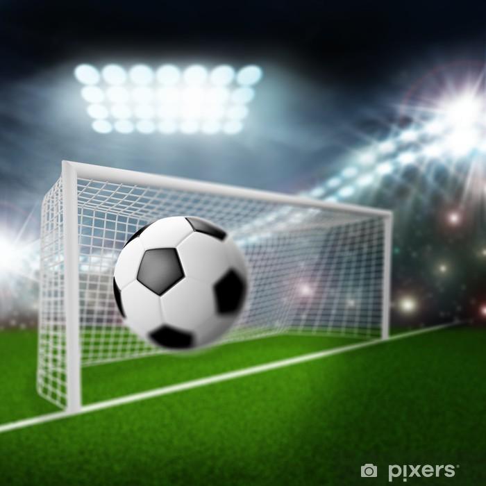 Fototapet Fotboll flyger in i mål • Pixers® - Vi lever för förändring e7fb1c1201190