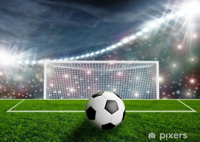 Fototapeta winylowa Piłka nożna na zielonej Stadion Arena - Sukces i osiągnięcia