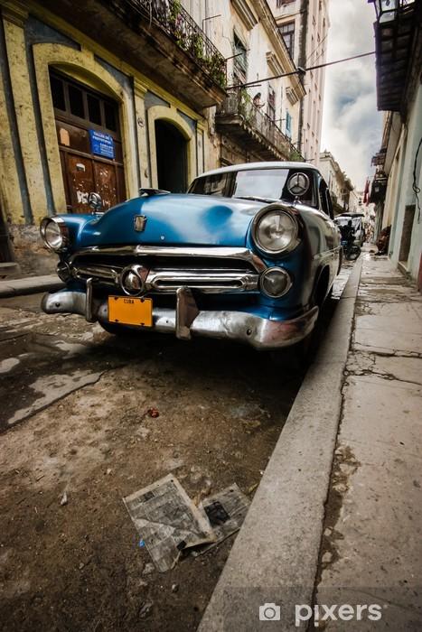 Vinil Duvar Resmi Küba Vintage -