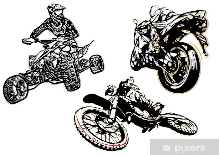 Papier peint vinyle Sport automobile trio illsutration - Sports extrêmes