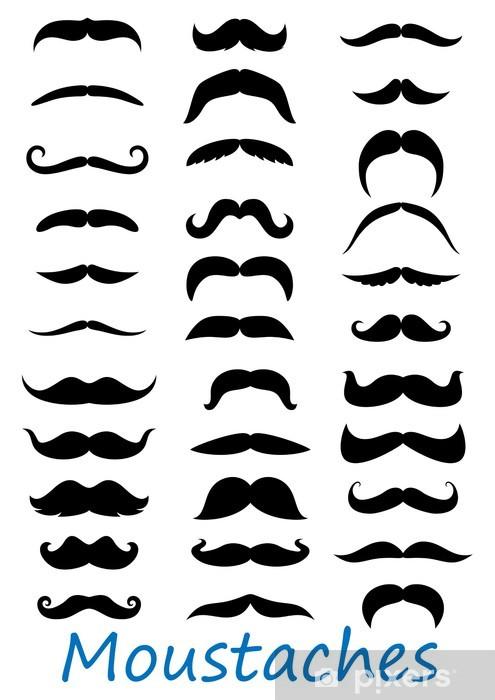 Moustache icons set Pixerstick Sticker - Moustache