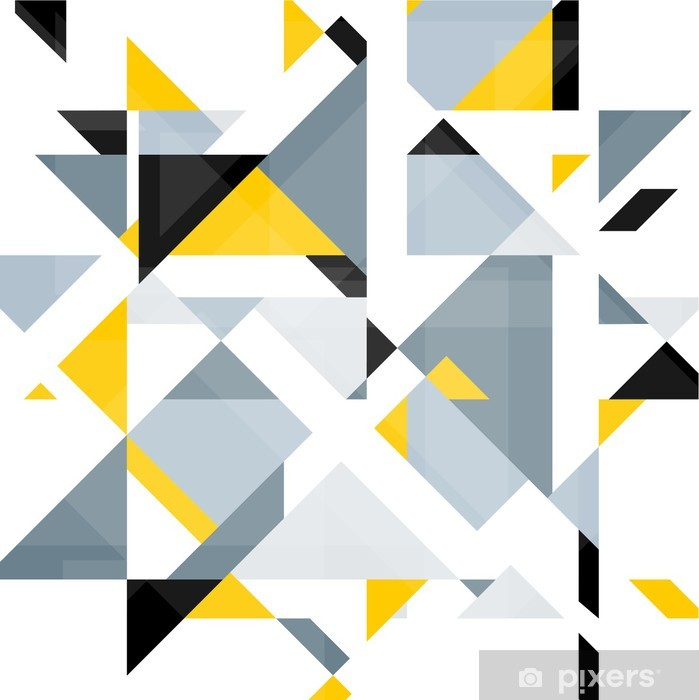 Abstract geometry background Vinyl Wall Mural - Themes