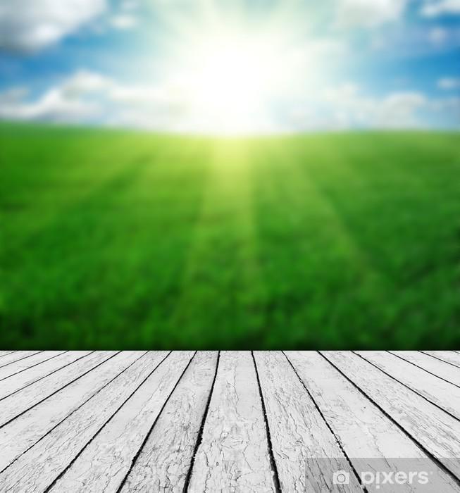 Ahşap Ve Güzel Doğa Arka Plan Ile Doğa Arka Plan Duvar Resmi