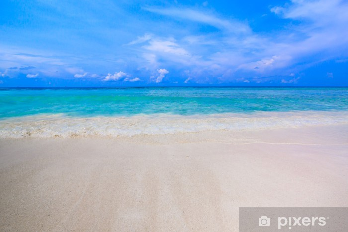 Vinyl Fotobehang Het strand van tropisch kristalheldere zee, Tachai eiland, Andaman, Tha - Azië