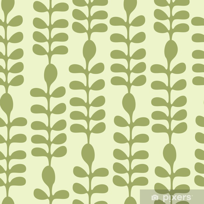 Acacia Leaves Seamless Pattern Vinyl Wall Mural - Backgrounds