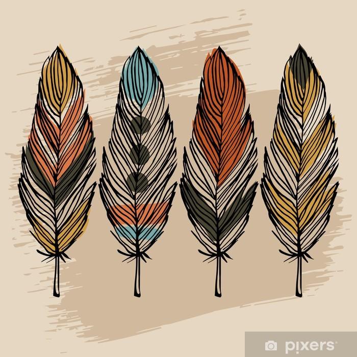 Poster Main tirage plume ensemble - Styles