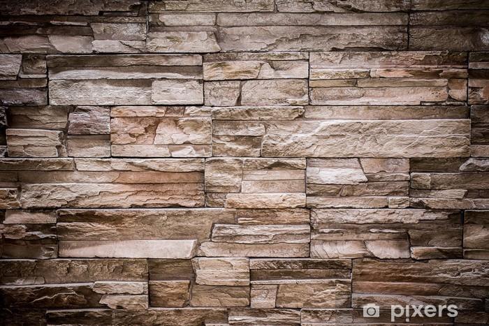 Fotomural Estándar Modern piedra de ladrillo la pared de fondo textura - Ladrillo