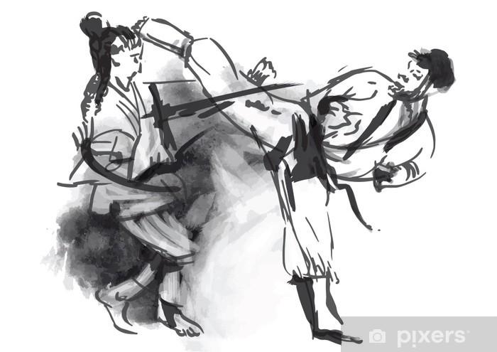 Fototapet av Vinyl Karate - hand (calligraphic) vektor - Teman
