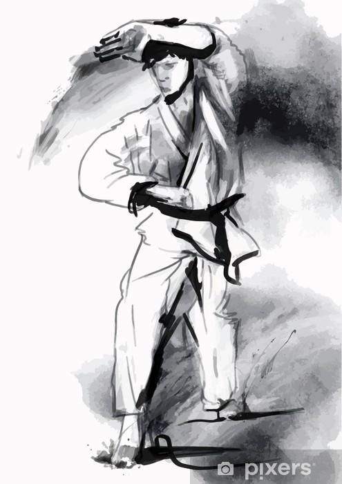 Papier peint vinyle Karaté - tiré par la main (calligraphique) vecteur - Thèmes