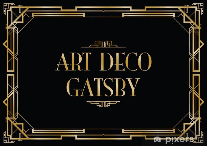 Papier peint vinyle Gatsby art déco fond - Arrière plans