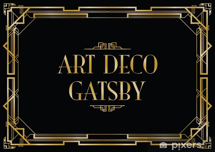 Gatsby Art Deco Background Wall Mural Pixers 174 We Live