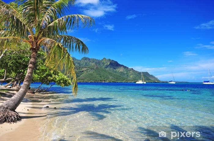 Papier peint vinyle Eaux turquoises au large de Moorea à Tahiti, Polynésie française - Océanie