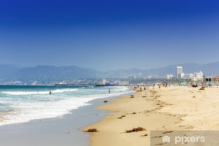 Papier peint vinyle Santa monica beach - Villes américaines