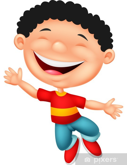 Vinilo Pixerstick De Dibujos Animados Niño Feliz Pixers Vivimos