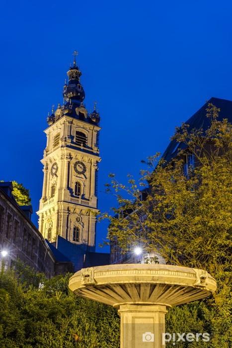 Fototapeta winylowa Dzwonnica w Mons w Belgii. - Europa