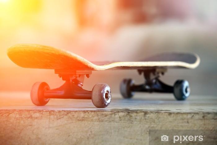 Fototapeta winylowa Samochody deskorolka - Skateboarding