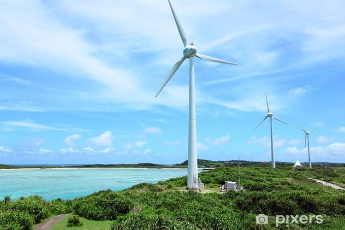 Sticker Pixerstick Énergie éolienne - Ecologie