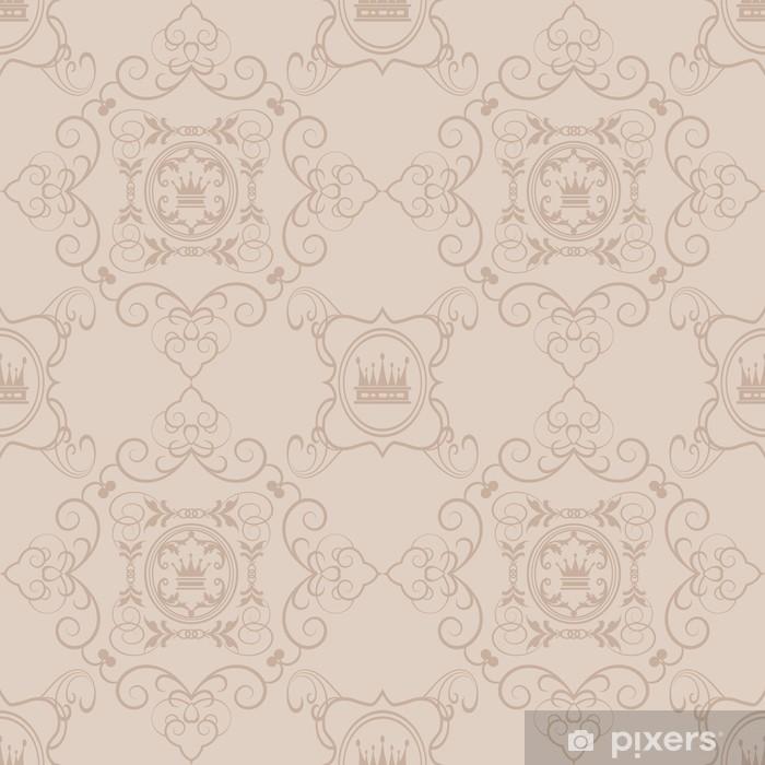 Naklejka Na Szybę I Okno Powtarzalny Adamaszku Tapety Dekoracyjne