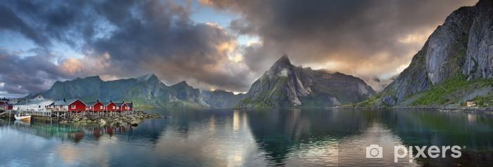 Papier peint vinyle Lofoten Islands Panorama. - Thèmes