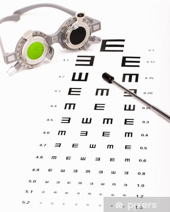 8dff37ee2f14 optometrist chart and eye glasses Pixerstick Sticker - Health and Medicine