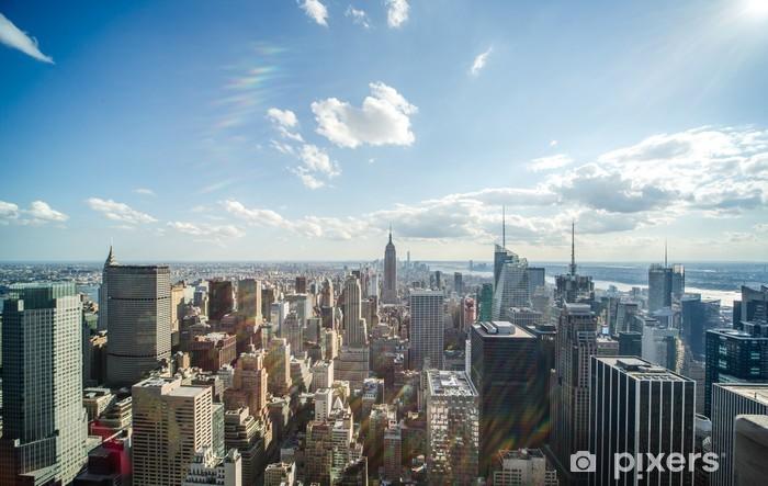 New York City Manhattan midtown buildings skyline view Pixerstick Sticker - America