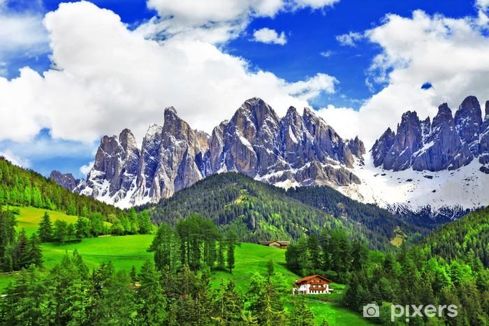 Fotomural Estándar Naturaleza impresionante de los Dolomitas. Alpes italianos - Vacaciones