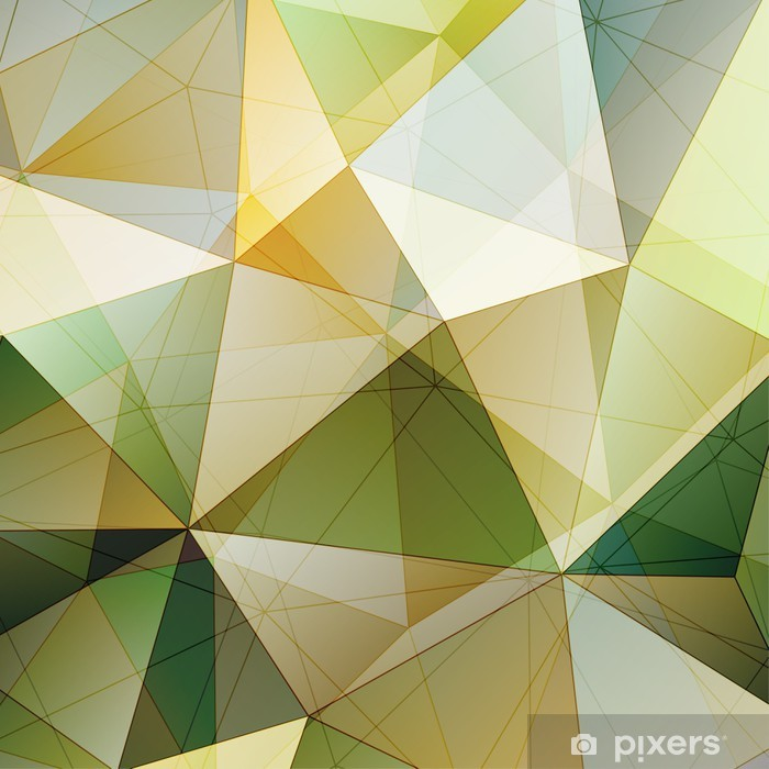 Poster Kleur Driehoek Abstracte Achtergrond - Abstract