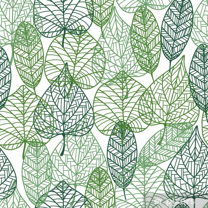 Fototapeta winylowa Zielone liście szwu. - Style