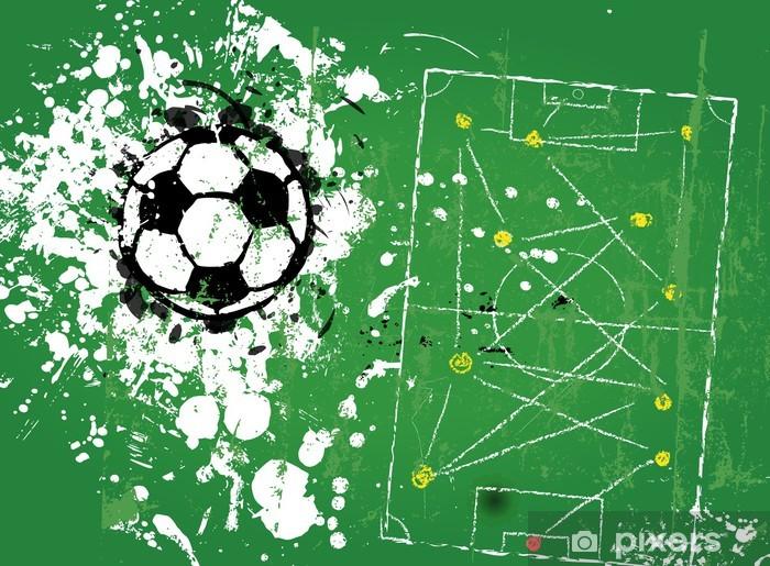 Fototapeta zmywalna Grungy piłka nożna, format ilustracji wektorowych - Tematy