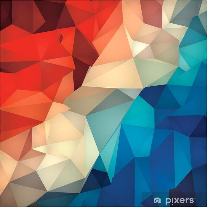 Naklejka Pixerstick Abstrakcyjne geometryczne tło low poly. - Tła
