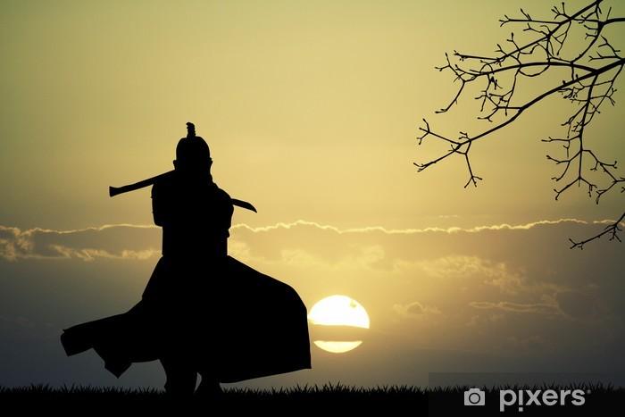 Nálepka Pixerstick Samuraj s mečem - Styly