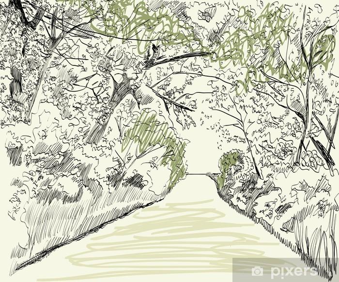 Plakat Krajobraz lato - Pory roku