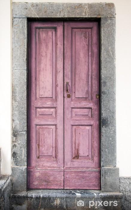 vecchio portoncino rosa Pixerstick Sticker - Monuments