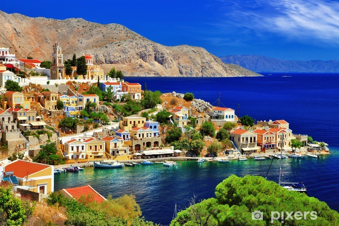 wonderful Greece. Symi island , Dodecanese Vinyl Wall Mural - Themes