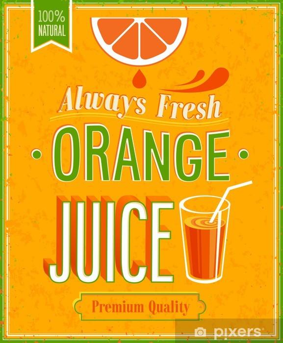 Papier Peint Orange Affiche De Jus Vintage Pixers Nous Vivons