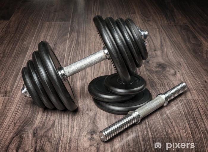 Sticker Pixerstick Haltères pour le fitness -