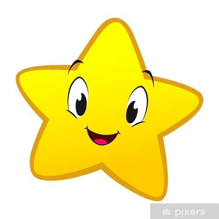 Sticker Pixerstick Cartoon Little Star - Bonheur